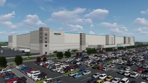 Rendering of new Amazon Robotics Facility in Shreveport