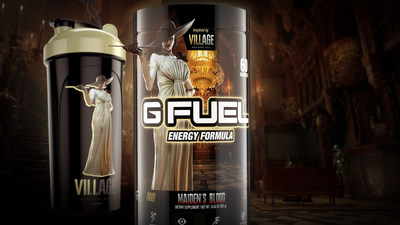 In partnership with Capcom® and inspired by the nightmarish Resident Evil: Village survival horror video game, which also released today, the Lady Dimitrescu Bundle includes a tall 60-serving tub of G FUEL's newest Maiden's Blood flavor and a Lady Dimitrescu-sized 24 oz shaker cup. Pre-order the bundle at gfuel.com/lady-dimitrescu-bundle.