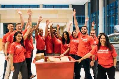 Toyota employees during a Toyota4Good volunteer event