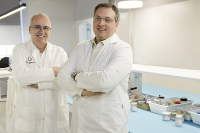 DrMatteo y Jordi Segura: Jordi Segura, R&D Director at Bella Aurora Labs and Dr Matteo Bordignon.