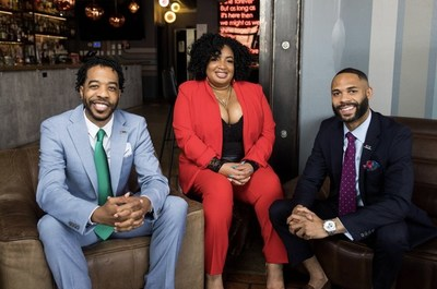 Derek Robinson, Falayn Ferrell and Warren Luckett - founders of Black Restaurant Week, LLC. - Photo credit: Unique James