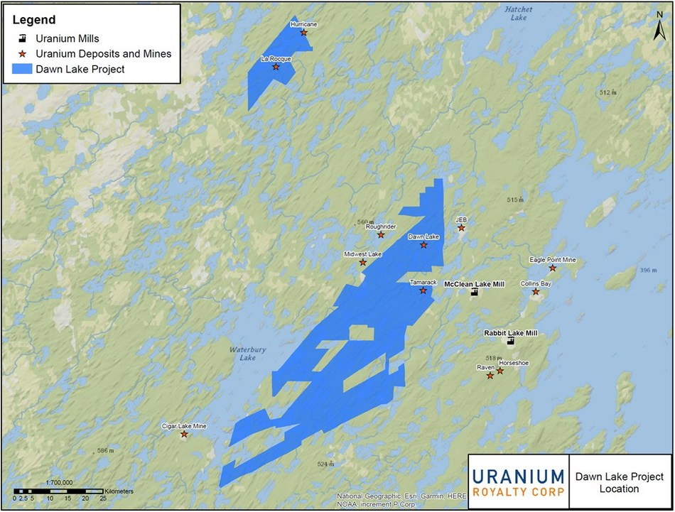 Uranium Royalty Corp. Completes Acquisition of Royalties on McArthur River and Cigar Lake Mines from Reserve Minerals Corp. and Secures Option on Dawn Lake Project (CNW Group/Uranium Royalty Corp.)