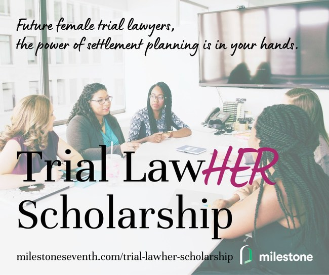 The Trial LawHER Scholarship is a $10,000 annual scholarship awarded to a rising 3L female law student who intends to become a plaintiff trial lawyer.