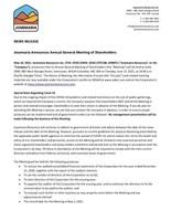 Josemaria Announces Annual General Meeting of Shareholders