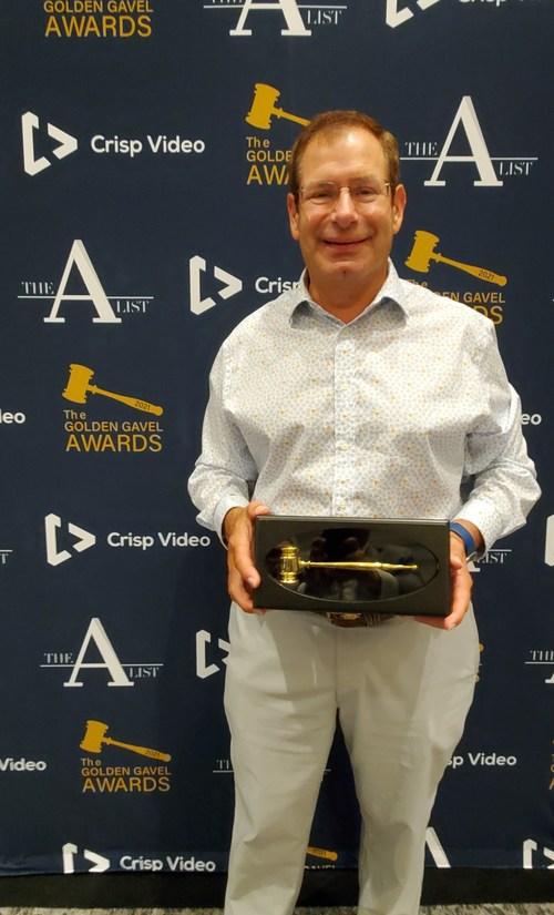 William Mattar with 2021 Golden Gavel Award