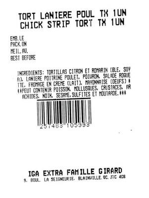 Tortillas au poulet (Groupe CNW/Ministère de l'Agriculture, des Pêcheries et de l'Alimentation)