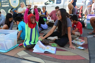 Traveling Stories, which provides children with quality literacy support, pivoted its in-person Story Tents (shown here) to virtual amid the pandemic and aims to match 1,000 students with mentors by the end of the year.