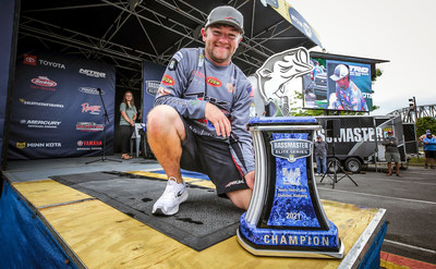 Wes Logan, of Springville, Ala., has won the 2021 Whataburger Bassmaster Elite at Neely Henry Lake with a four-day total of 57 pounds, 9 ounces.