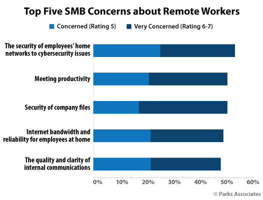 Parks Associates: Top Five SMB Concerns about Remote Workers
