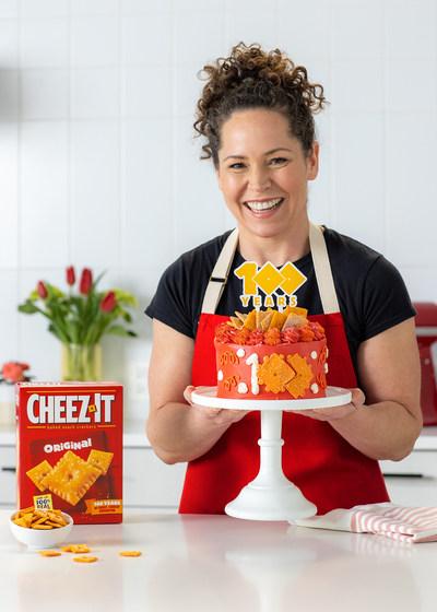 Cheez-It® kicks off 100th birthday with limited edition Cheez-It® Cheez-Itennial Cake crafted by Celebrity Chef Stephanie Izard