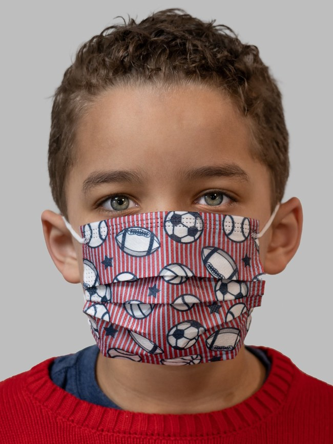 imask4u Nautica Sports 3-ply disposable mask is just one of the many colorful, fun prints for boys and girls to enjoy wearing.