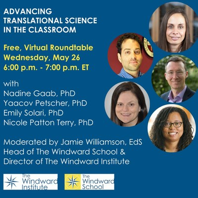 The Windward Institute hosts education experts on furthering the understanding of the Science of Reading and how to promote reading achievement for all students on Wednesday, May 26, 2021 at 6:00-7:00 p.m. EST. Register for this free, virtual roundtable at www.thewindwardschool.org/roundtable