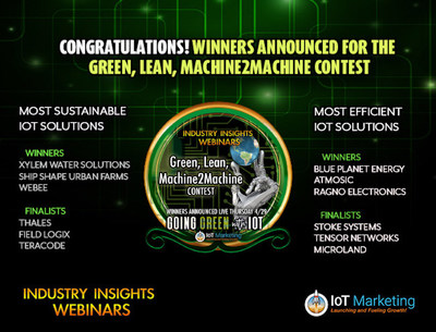 """The Green, Lean, Machine2Machine contest, featured on the """"Going Green with IoT"""" edition of Industry Insights Webinars, recognizes businesses that have developed sustainable and efficient IoT products and services."""