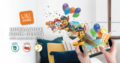 Room decor just came to life with Quinco & Cie's launch of Wall Stories, the Canadian company's innovative line of interactive wall decals that use augmented reality (AR) to stir creativity and imaginative play through the Wall Stories App. (CNW Group/Wall Stories)