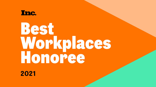 Inc Best Workplaces Honoree 2021