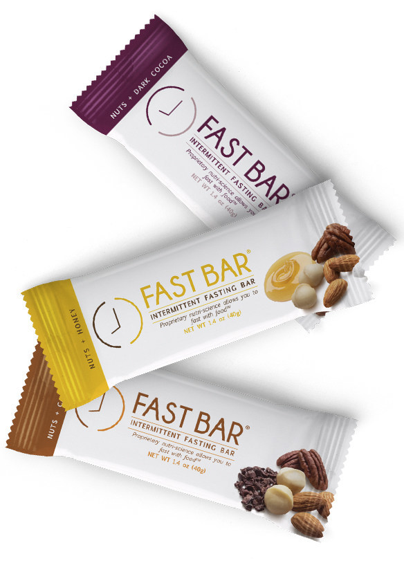 FastBar® is made with plant-based protein and is available in three flavors – nuts + dark cocoa, nuts + cacao chips, and nuts + honey.