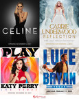 World-Renowned Music Superstars Celine Dion, Carrie Underwood, Katy Perry and Luke Bryan Announce First Performance Dates for Exclusive Headliner Engagements at Resorts World Las Vegas