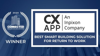 """The publisher of Connected Real Estate Magazine commented, """"The CXApp, now an Inpixon company, delivers an exceptional technology solution that contributes to managing or improving the return to work and is the winner of the Best Smart Building Solution in the Return to Work category."""""""