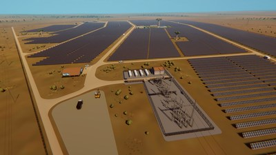 3D Design of the Golomoti Solar and Energy Storage Project