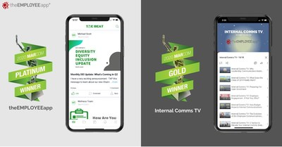 theEMPLOYEEapp is the winner of two MarCom Awards for its employee communications mobile app and video series, ICTV.