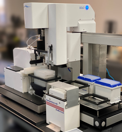 FluroTest (TSXV: TEST) (OTCQB: FLURF) offers a first look at its high-volume FluroTest's high-volume antigen system is designed to facilitate very fast and accurate point of access testing of individuals for SARS-CoV-2 and other pathogens by leveraging the disciplines of robotics automation, biochemistry, fluorescence detection and cloud computing. (CNW Group/FluroTech Ltd.)