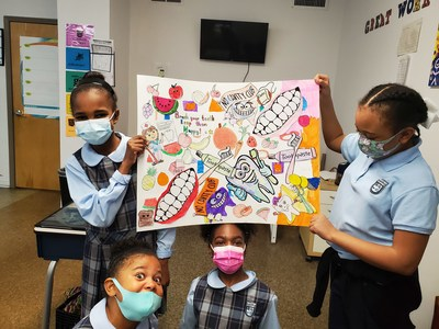 A video submission featuring a rap and artwork by Imhotep Academy students in Atlanta, GA was voted national winner of this year's Colgate Bright Smiles Kids Awards.