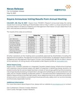 Keyera Announces Voting Results from Annual Meeting (CNW Group/Keyera Corp.)