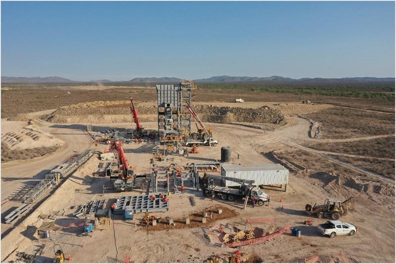 Figure 1: Crusher Erection (CNW Group/Orla Mining Ltd.)