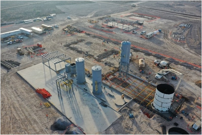 Figure 4: Merrill-Crowe Plant Construction (CNW Group/Orla Mining Ltd.)