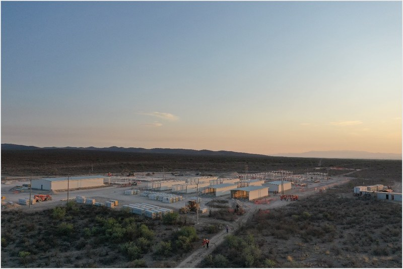 Figure 5: Camp Construction (CNW Group/Orla Mining Ltd.)