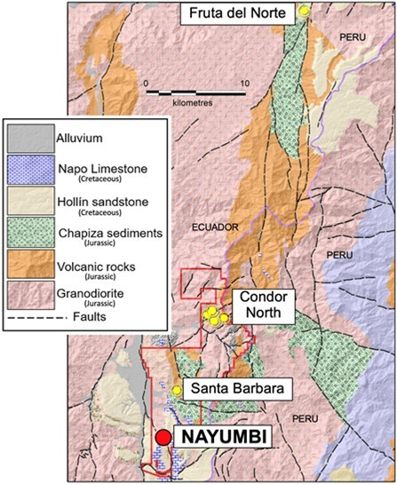 Figure 1. Regional location map of Nayumbi relative to other gold deposits. (CNW Group/Luminex Resources Corp.)