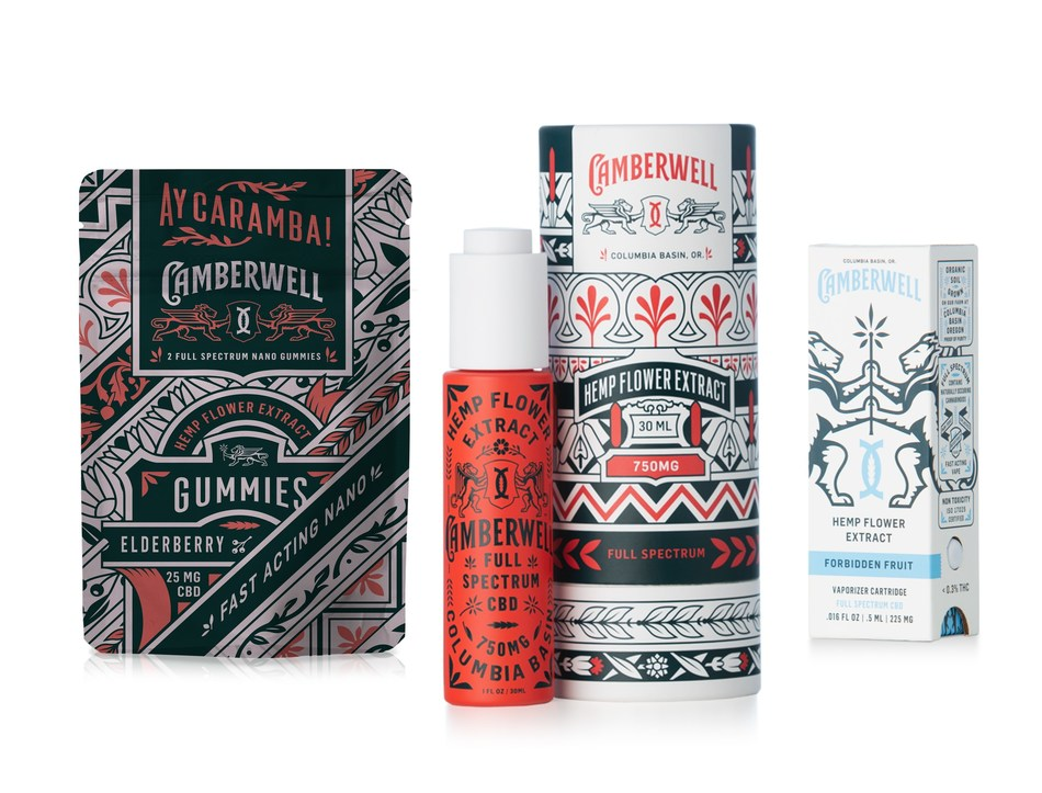 Camberwell Products: Full Spectrum CBD Oil Gummies, Full Spectrum Nano CBD Oil Tincture and Full Spectrum CBD Oil Vaporizer Cartridge
