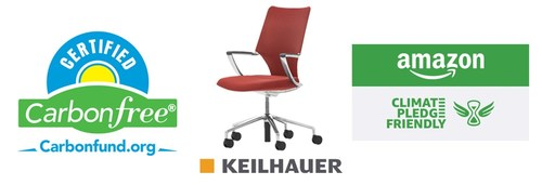 Carbonfund.org Foundation is proud to announce with Keilhauer the Carbonfree® Product Certification of the new Swurve conference chair. The Carbonfree® Certified Products Program is proud to be part of Amazon's Climate Pledge Friendly Program.