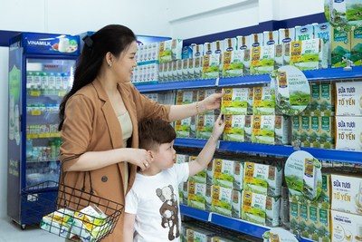 Vinamilk Green farm fresh milk is one of Vinamilk's newly launched products earlier this year
