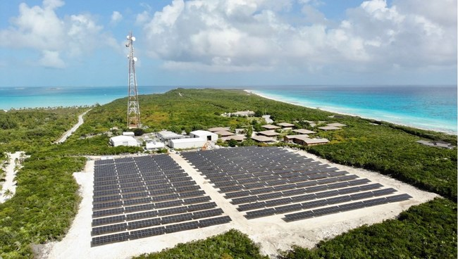 Highbourne Cay improves resiliency and financial performance with a microgrid from Bahamas Energy and Solar Supplies, Azimuth Energy, and Solar FlexRack solutions.