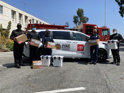 TMNA is providing several national and local nonprofit organizations with more than 50 vehicles and grant funding. Photo provided by LAFD Foundation.