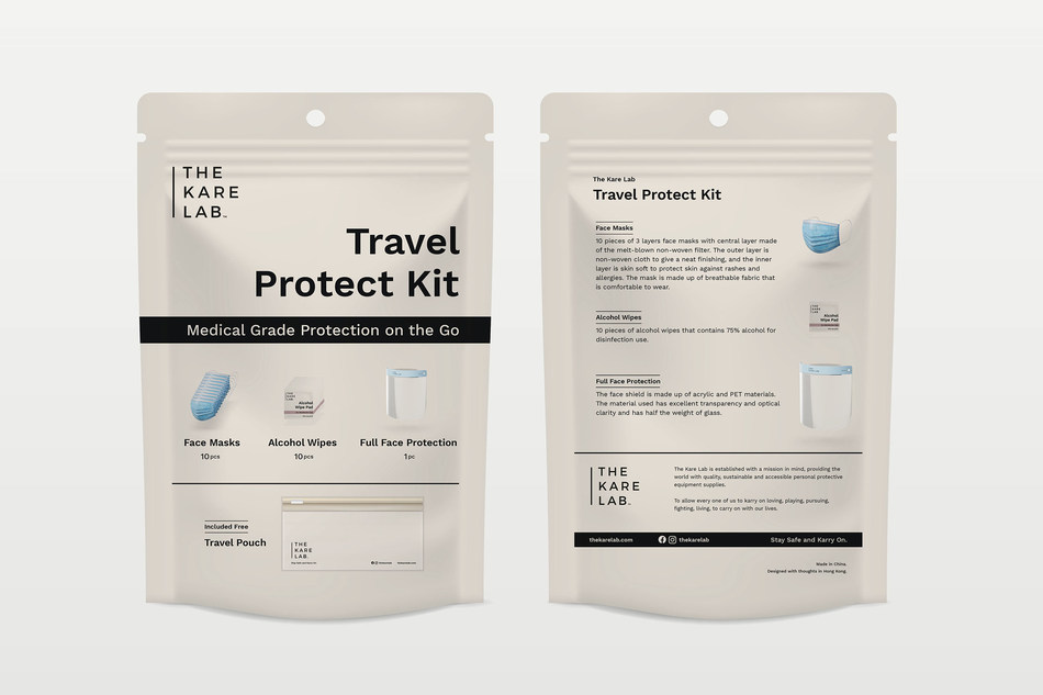 The Kare Lab Travel Protect Kit keeps travelers safe with medical grade protection on-the-go and the COVID-19 virus at bay.