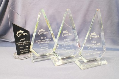 Cambium Networks Awarded WISPA Manufacturer of the Year for Four Years in a Row