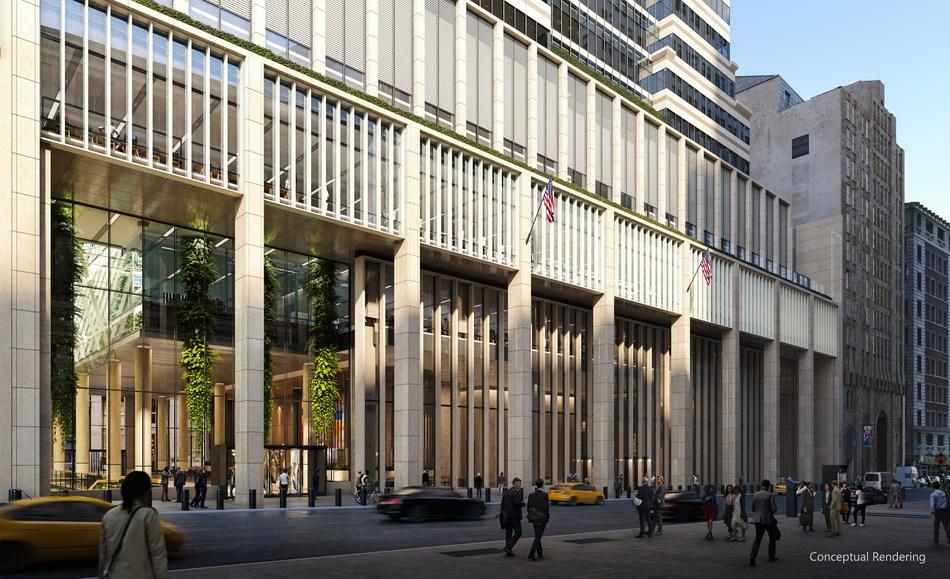 Conceptual renderings of 60 Wall Street