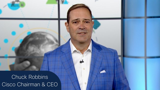 """Cisco Chairman and CEO Chuck Robbins addresses RSA Conference 2021, """"Security must be simple, intelligent and everywhere."""""""