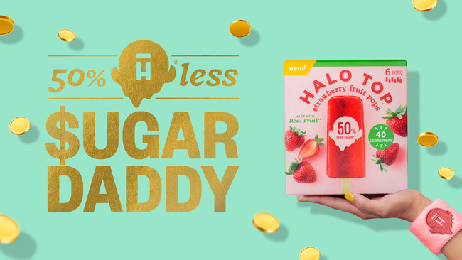 In honor of recently released Fruit Pops, made with 50% less sugar than other leading fruit bars in the frozen aisle, Halo Top proves that 50% less is actually more by cutting the cost of fans' fitness buys in half, just in time for summer.