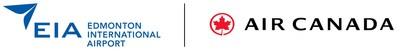 Logos de Edmonton Airports Authorit et Air Canada (Groupe CNW/Air Canada)