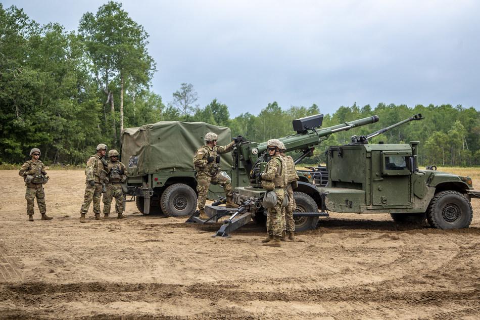 HUMVEE 2-CT Hawkeye Demonstration at Camp Grayling, Michigan