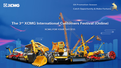 XCMG to Livestream Third International Customer Festival on Facebook at 4pm (GMT+8), May 20 2021.