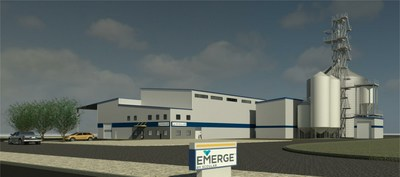 A rendering of the facility in Jerome, Idaho, that will manufacture Emerge