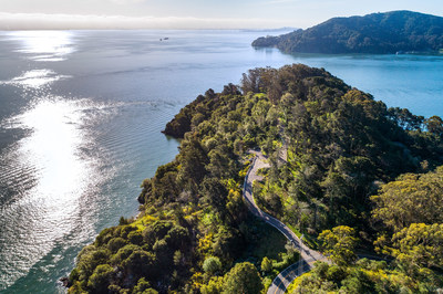 Years of careful planning and millions of dollars have been invested by the current owners to ensure the estate site was planned and permitted in accordance with Marin County's various developmental and environmental authorities. The parcel is just minutes from the heart of Tiburon. Angel Island State Park (shown in the distance) is within a short boat ride. Learn more at TiburonLuxuryAuction.com.
