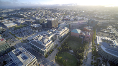 This is an aerial of the UCSF Mission Bay Campus. Credit: Matt Beardsley/UCSF (PRNewsfoto/Thermo Fisher Scientific)