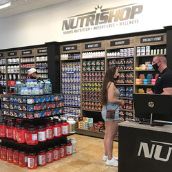 A glimpse at the new state-of-the-art NUTRISHOP® Pro Shop now open inside the 24 Hour Fitness® Sacramento Downtown club.