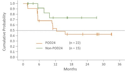 Follow-up = Time from first day on study to treatment discontinuation or data cutoff of 10DEC2020