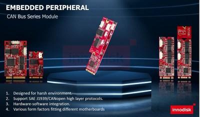 Innodisk lança módulos de rede CAN para sistemas inteligentes não tripulados (PRNewsfoto/Innodisk Corporation)